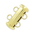 Chiusura 2 file scorrevole mm. 15 in Gold filled 14k