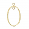 Separatore ovale 2 anelli mm.23 in Gold filled 14 K x1