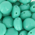 Candy Beads 2-hole mm.8 Green Turquoise x20
