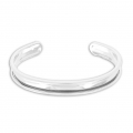 Base in ottone per bracciale Eco con bordo incurvato mm. 10 argentato x1