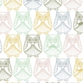 Tissu Percale Christel G Design - Mr et Mme Hibou en Scandinavie x10cm