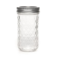 Boccale Mason Jar Ball 12 oz motivo diamante  x1