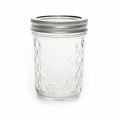 Boccale Mason Jar Ball 8 oz motivo diamante  x1