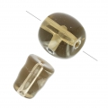 Set perle gourous in vetro 10 e 9 mm Smoky Quartz x1