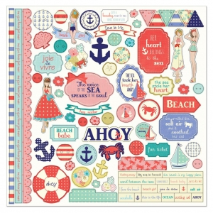 Stickers Julie Nutting Nautical Bliss 30x30 cm Element Stickers
