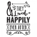 Trasfert autodesivo & they lived happily ever after 24.8x17 cm Nero x1
