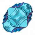 Cabochon Swarovski 4926 Oval Tribe 14x10mm Aquamarine Metallic Blue
