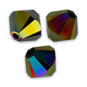 Biconi Swarovski mm. 5 Crystal Rainbow Dark  2X x20