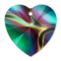 Cuore Swarovski 6228 mm. 14,4x14 Crystal Rainbow Dark x1