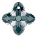 Pendente Swarovski 6868 Cross Tribe mm. 14 Graphite Light Chrome