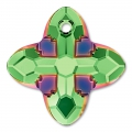 Pendente Swarovski 6868 Cross Tribe mm. 14 Peridot Scarabaeus Green