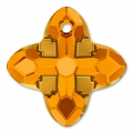 Pendente Swarovski 6868 Cross Tribe mm. 14 Topaz Dorado