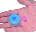 Mini stampo silicone mm. 12,5x10,5 Cuore