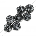 Honeycomb 6 mm Tweedy Silver x20