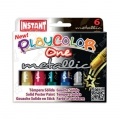 Set di 6 sticks di tempera solida Playcolor One Metallic
