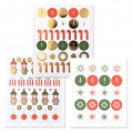 Stickers Paper Poetry Puristic Christmas Saint Nicolas 15 fantasie x182