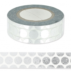 Paper Poetry Tape mm.15 Pallini Argentato x10m