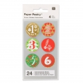 Stickers Paper Poetry Calendario dell'Avvento 28 mm Rosso/Verde x24