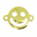 Separatore  Smiley contento  mm.19x14 dorato x1