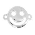 Separatore Smiley contento mm.19x14 argentato x1
