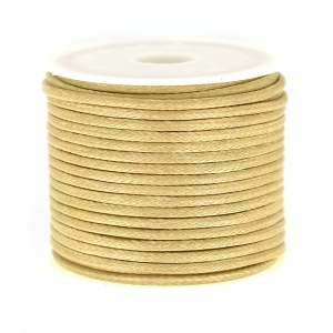 Cordon polyester imitation serpent type snake cord 2 mm Beige x9m