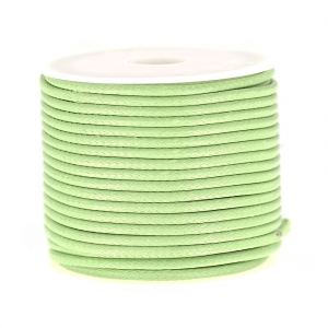 Cordon polyester imitation serpent type snake cord 2 mm Tilleul x9m