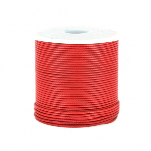 Cordone poliestere tipo snake cord 1 mm Rosso x10 m