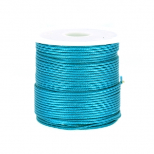 Cordone poliestere tipo snake cord 1 mm Green Turquoise x10 m