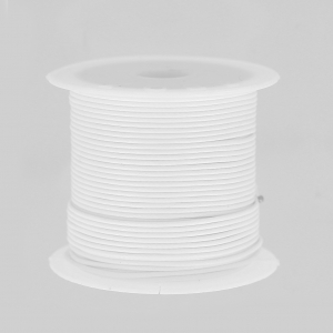 Cordone poliestere tipo snake cord 1 mm Bianco x10m