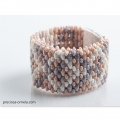 Perle in vetro Preciosa Tee Beads mm.2x8 Crystal Sunset x50