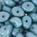 Perle di vetro Tico Beads 5x7 mm Chalkwhite Blue Ceramic Look x25