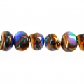 Perle di vetro Tico Beads 5x7 mm Opaque Beige Ceramic Look x25