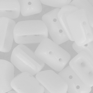 Perle di vetro Roofy Beads 5x8 mm Opaque White x25