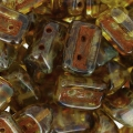 Perle di vetro Roofy Beads 5x8 mm Crystal Travertin x25