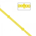 Chaîne maille ovale perlée 1.6 mm Giallo x1m