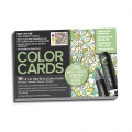 Assortimento di 16 biglietti da colorare Chameleon Color Cards Floral
