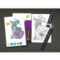 Assortimento di 16 biglietti da colorare Chameleon Color Cards Nature