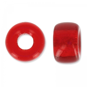Perle di vetro Pony Beads 9 mm Light Siam x15