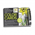 Assortimento di 16 biglietti da colorare Chameleon Color Cards Flowers