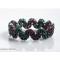 Perle in vetro Preciosa Tee Beads mm.2x8 Olive Green Gold Shine x50