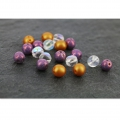 Perle in vetro Dobble Beads 2 fori8 mm Op. Light Rose Ceramic Look x20