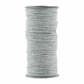 Bobina di 20 metri di spago twine House Doctor 2 mm Smoke Grey Silver