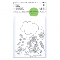 Set di carte e buste formato A6 Colouring activity motivi per bambini x12