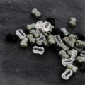 Perline in Vetro 2 fori CoCo Beads 8 x 6 mm Crystal x20
