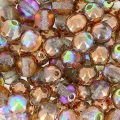 Perle mm. 4 Crystal Copper Rainbow x50