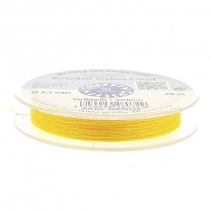 Filo di nylon europeo Griffin 0.3 mm giallo x25m