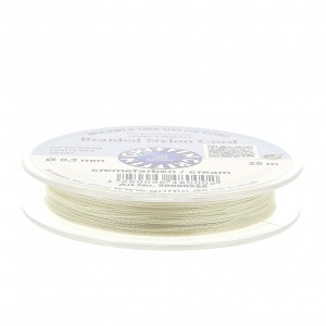 Filo di nylon europeo Griffin 0.3 mm Cream x25m