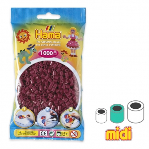 Perle da stirare  Hama MIDI 5 mm Bordeaux (n°30) x1000