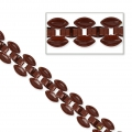 Catena 3 file motivo pavé 8 mm Burgundy x 50cm