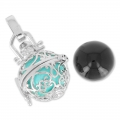 Bola messicana con strass 18 mm Crystal/rodiato x1